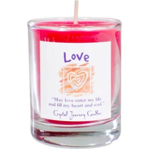 Love votive soy candle