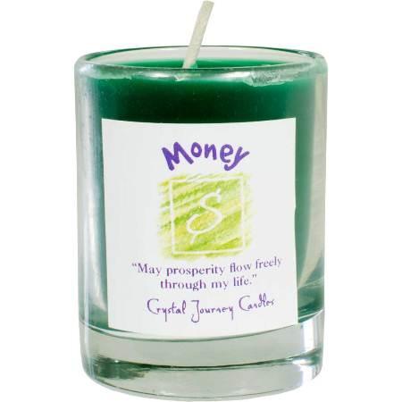 Money votive soy candle