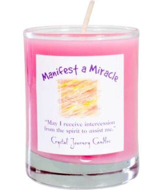 Manifest a miracle votive soy candle