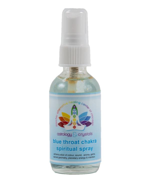 blue throat chakra spiritual spray