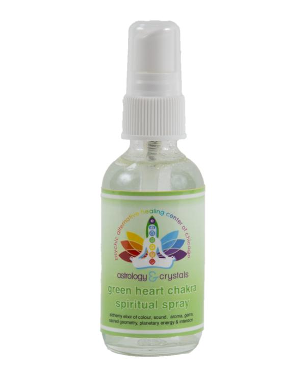 green heart chakra spiritual spray