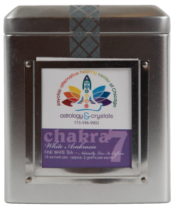 violet crown chakra tea