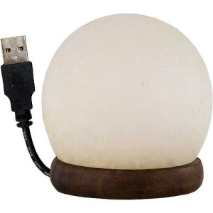 Salt lamp w/usb cord & led light sphere