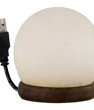 Salt lamp w/usb cord & led light sphere