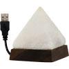 salt lamp with usb cord and led light pyramid