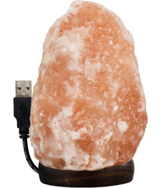 Salt Lamp w/USB Cord & Led Light Iceberg