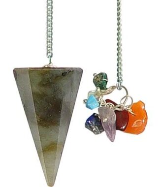 Pendulum with Chakra Beads Hexagonal Labradori