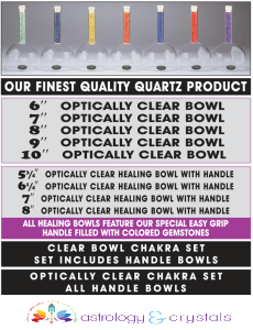 Crystal Meditation Bowls- astrology and crystals