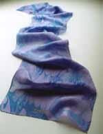 Indigo - third eye chakra scarf