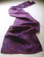 Violet - crown chakra scarf